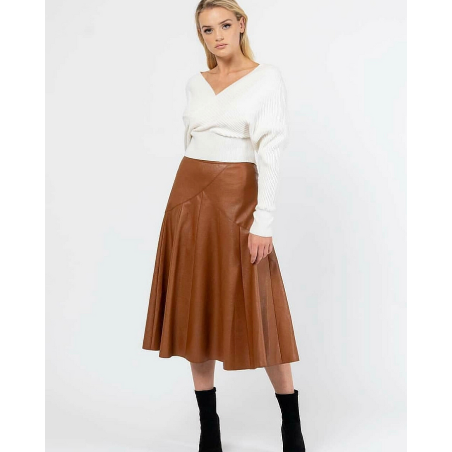 CHLOE PLEATHER SKIRT (4655270625334)