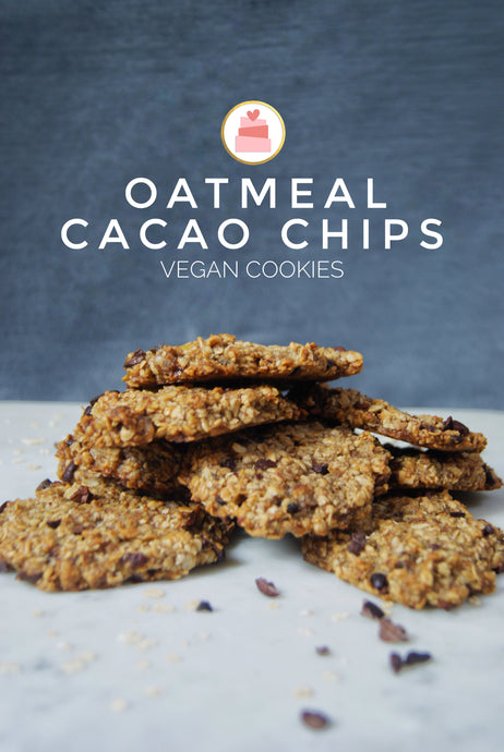 Oatmeal Cacao Chips Vegan Cookies recipe