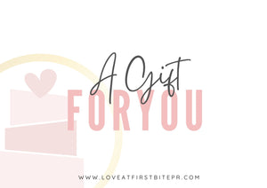 Love At First Bite Gift Card