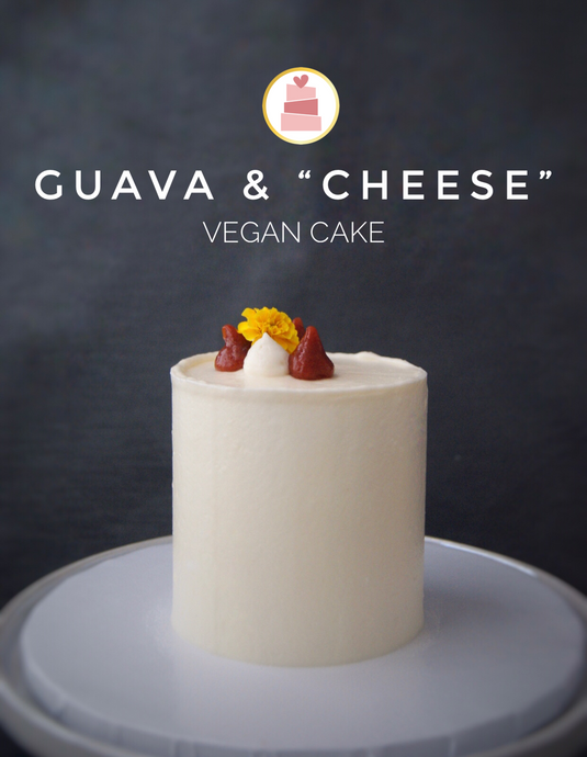 "Guava & ""Cheese"" Vegan Cake"