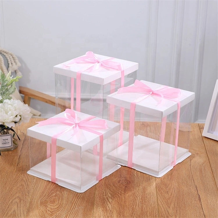 Luxury Clear Cake Boxes (2 pack)