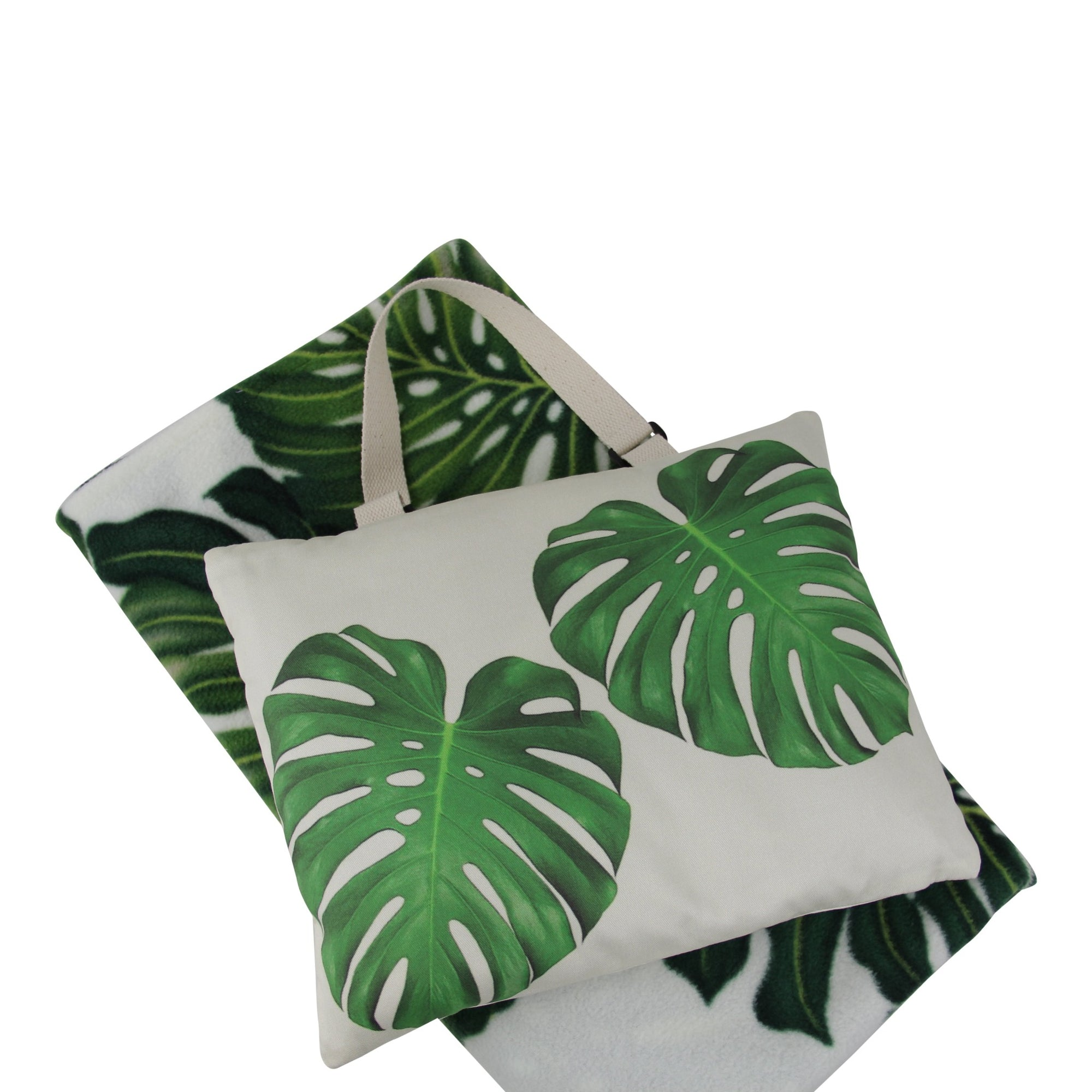 Hali'i Travel blanket set-Monstera