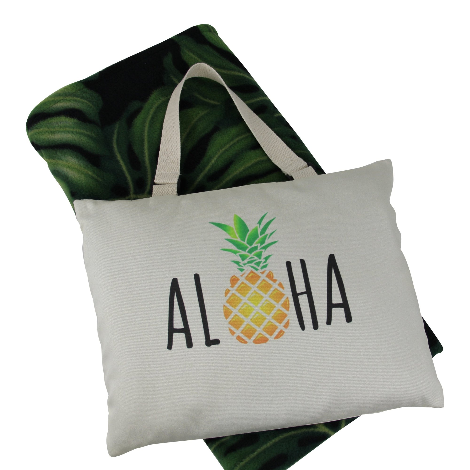 Hali'i travel blanket set-Aloha Pineapple Caps