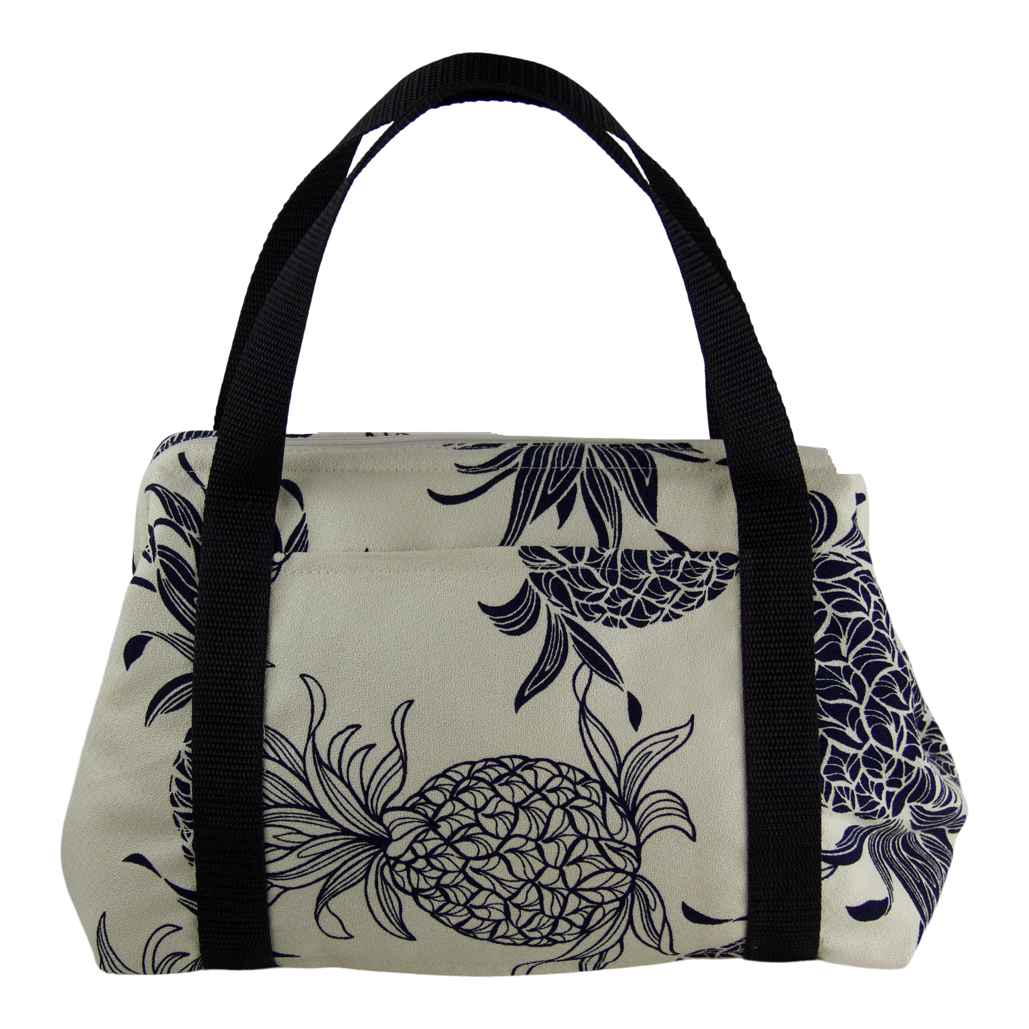 Insulated Toiletry/Lunch bag-Pineapple in Cotton Crepe