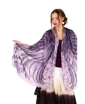 Purple wings scarf