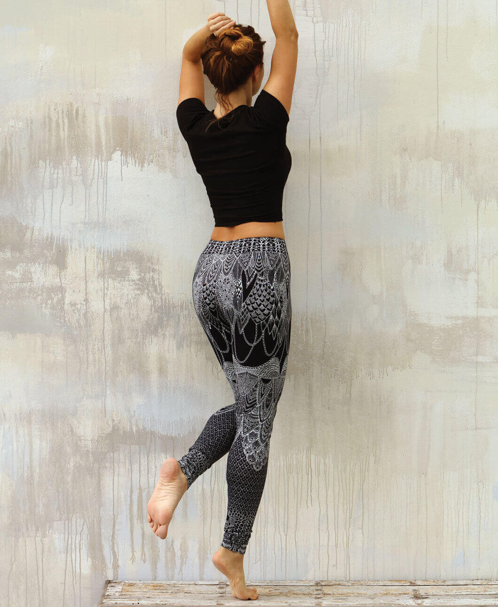 Black Lace Tribal Leggings
