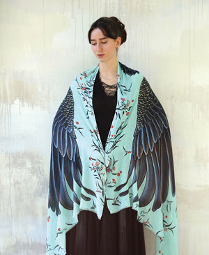 Blue Cockatoo Shawl