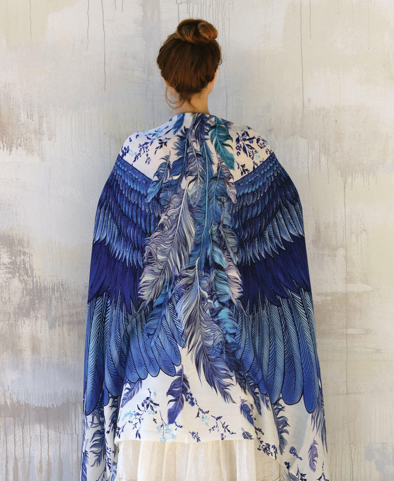 Blue Wings Shawl