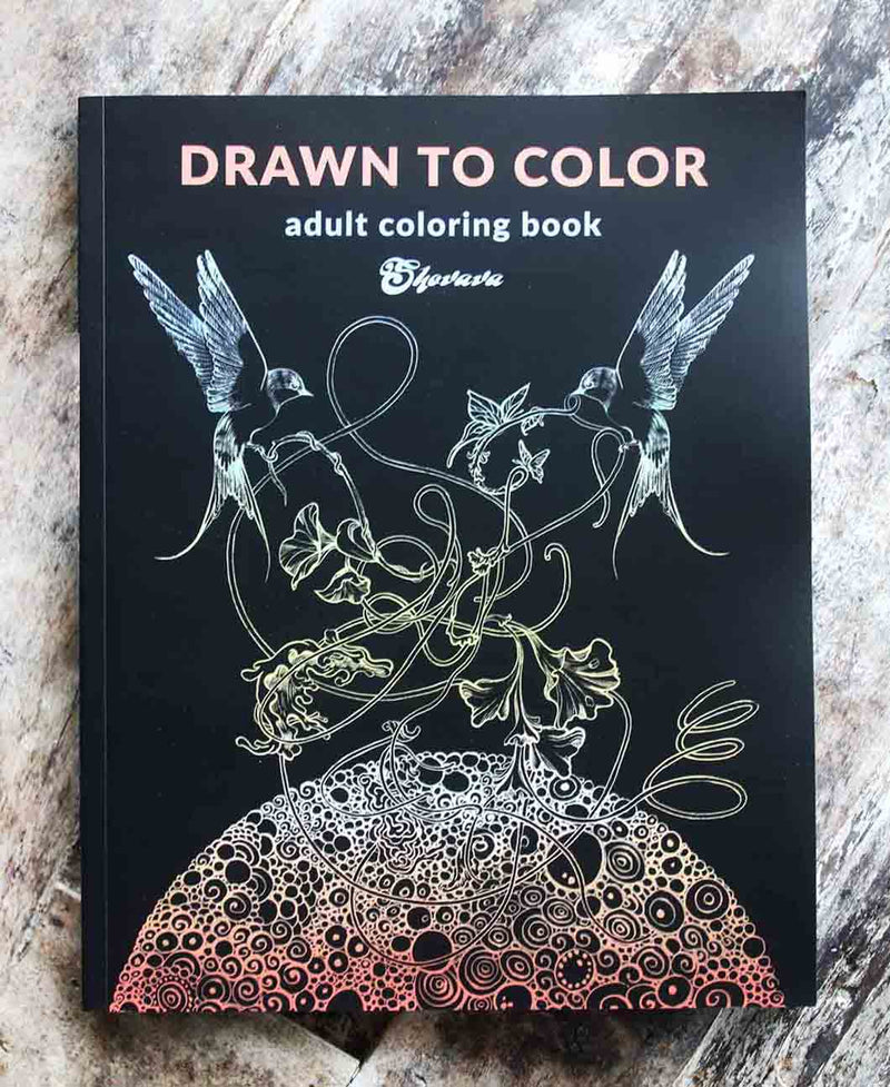 Adult Colouring Art Book