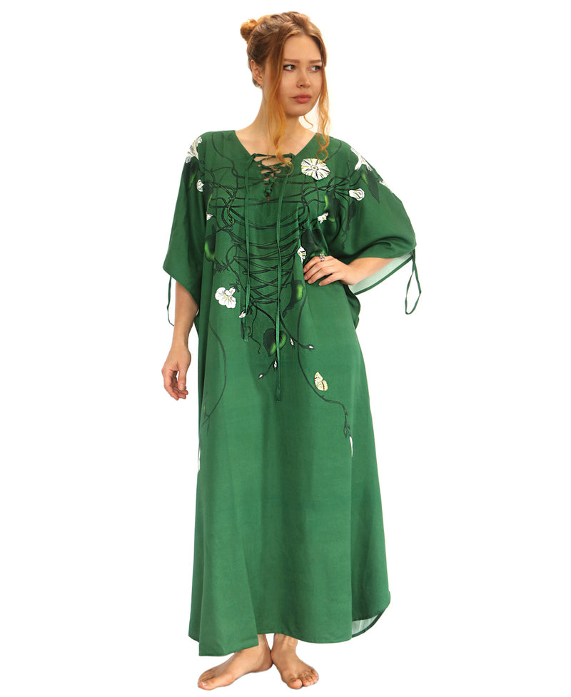 Morning glory dark green Kaftan