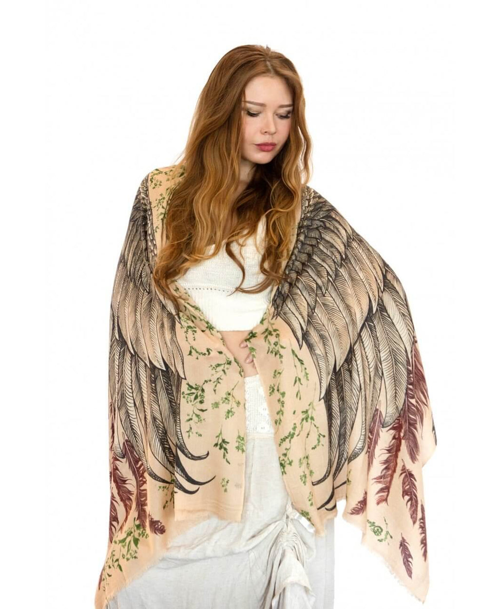 Earthy bohemian bird wings