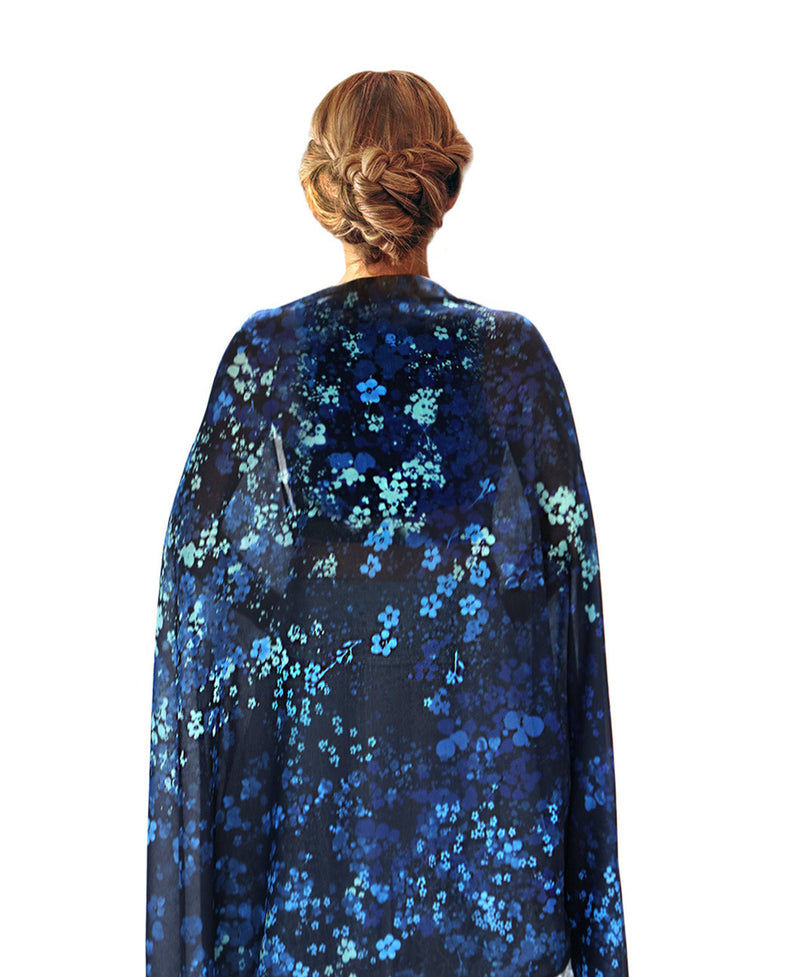 Forget Me Not Blue scarf