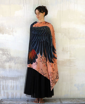 Peach Cockatoo Shawl