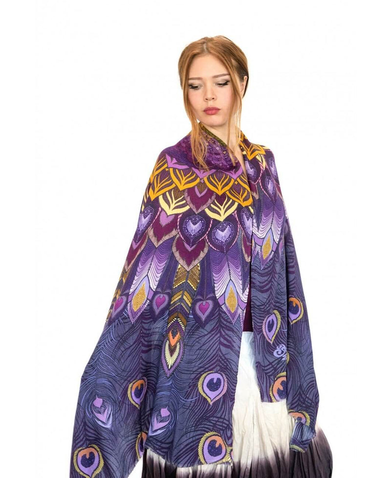 Purple Peacock scarf
