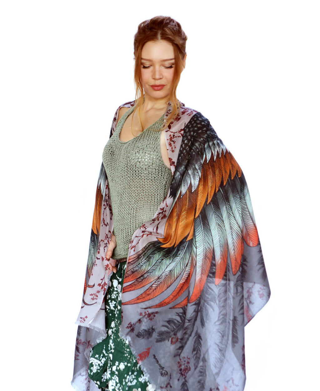 bird wings scarf