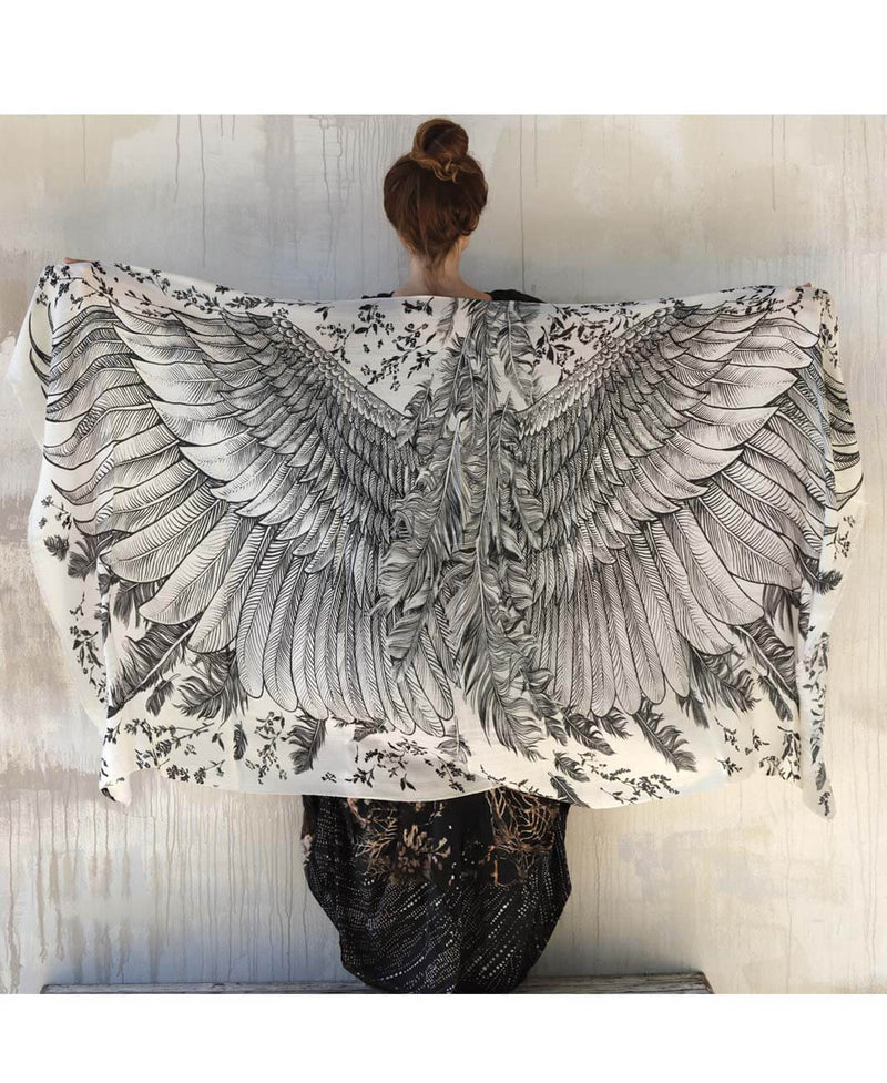 White Angel Wings Shawl