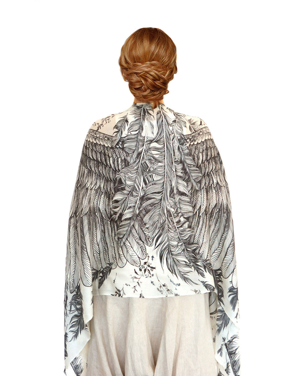 Cashmere White feather wings