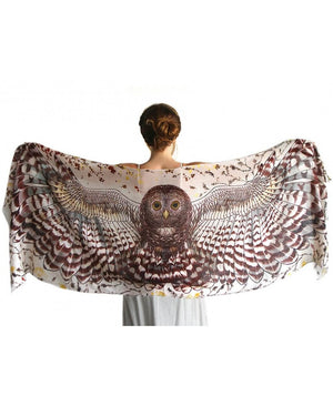 Day Owl bird wings scarf