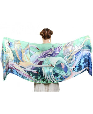 Fair Swans Wedding Scarf