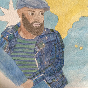 Doodle 11/365  Bearded Gent in Plaid Final