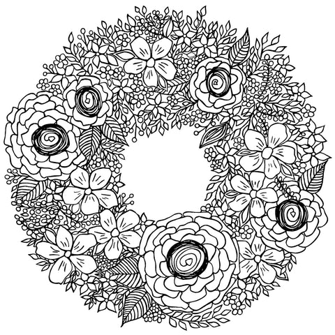 Flower Wreath I