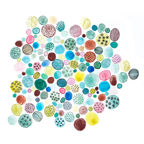 Watercolor Pebbles
