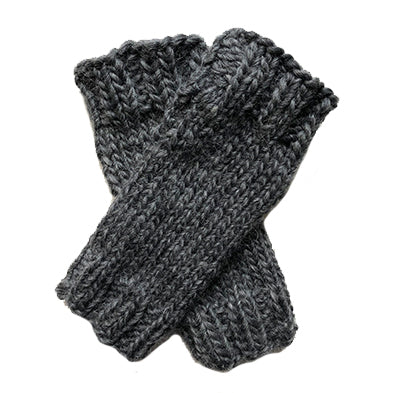 Outer Sunset Fingerless Mitts - Dark Gray Heather