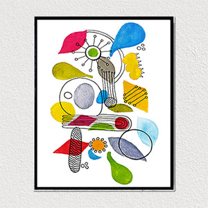 Abstract Shapes 8x10 Art Print by Tanya Madoff