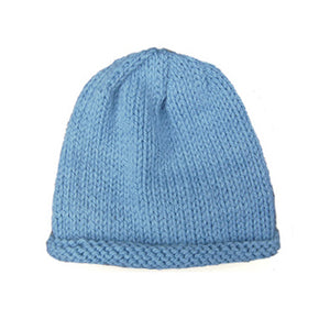 Organic Merino Wool Baby Hat - Hand Dyed Light Blue
