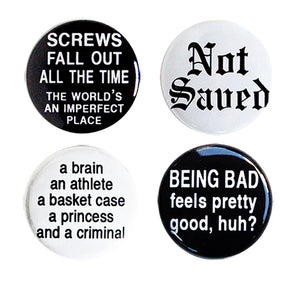Breakfast Club - Set of Four Pin-Back Buttons