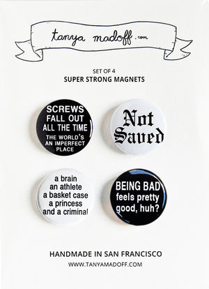 Breakfast Club - Set of Four Super Strong Magnets