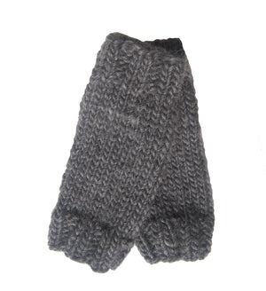 Outer Sunset Fingerless Mitts - Charcoal