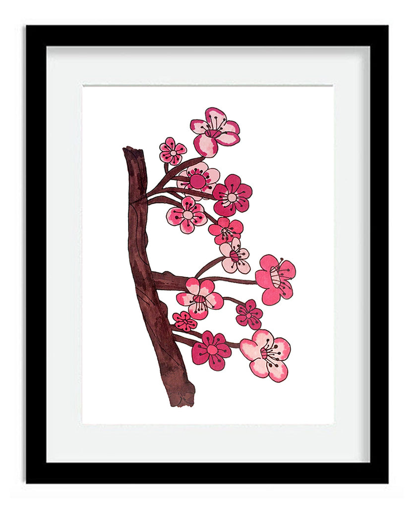 Cherry Blossoms 8x10 Art Print by Tanya Madoff