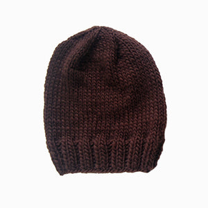 Outer Sunset Hat - Chocolate Brown, Knitted by Hand