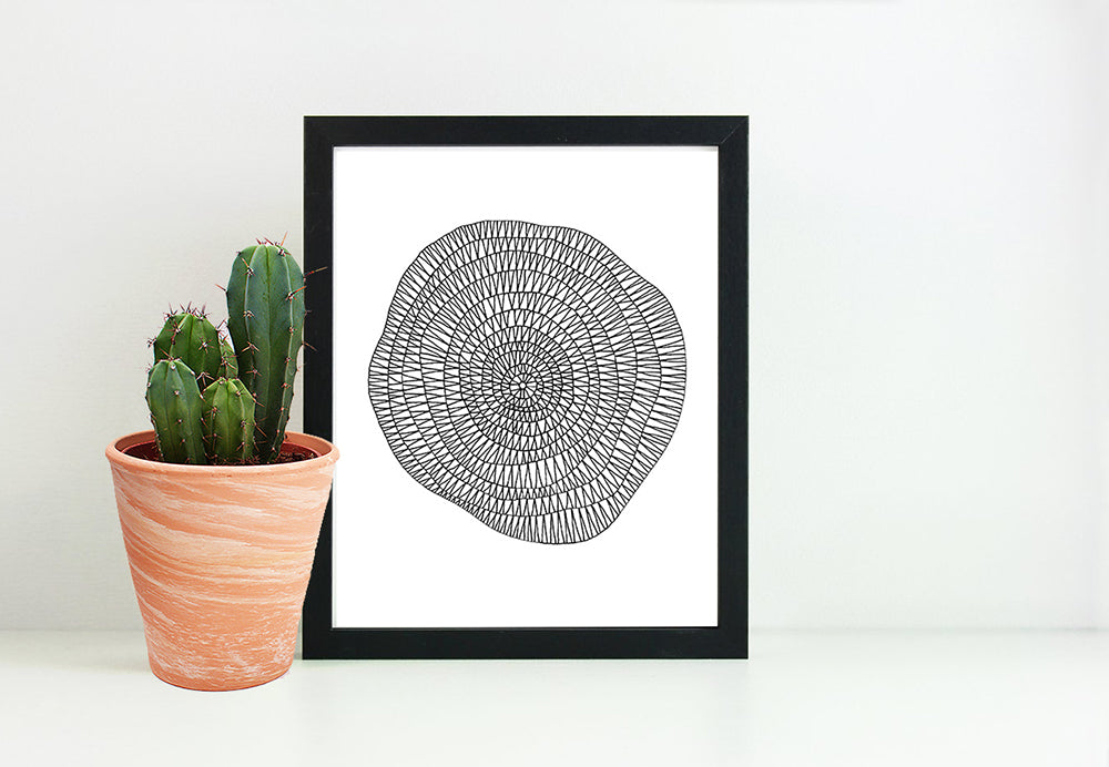 Circles and Triangles Print