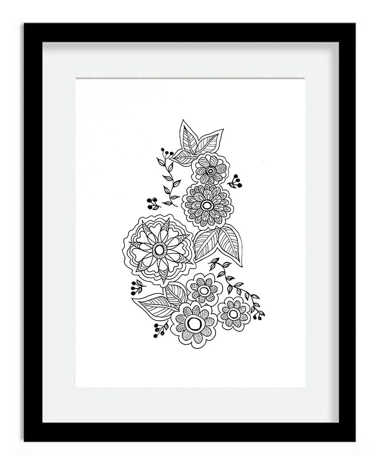 Flower Spray 8x10 Art Print by Tanya Madoff