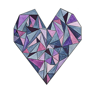 Geometric Heart 6x8 Art Print by Tanya Madoff