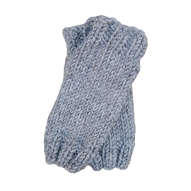 Outer Sunset Fingerless Mitts - Gray Heather, Knitted by Hand