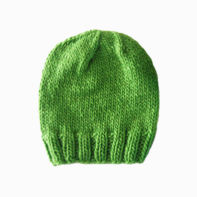 Outer Sunset Hat - Green Apple, Knitted by Hand