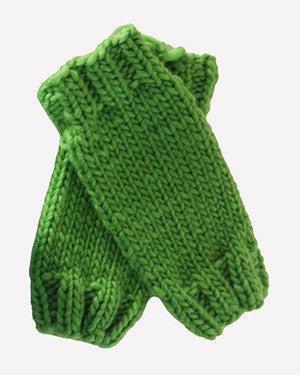 Outer Sunset Fingerless Mitts - Green Apple