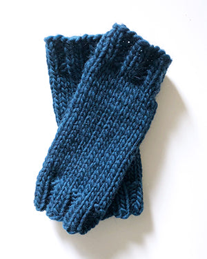 Outer Sunset Fingerless Mitts - Indigo