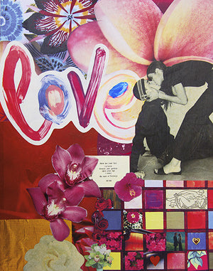 Love Collage 8x10 Art Print by Tanya Madoff