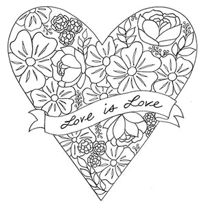Love is Love Heart with Flowers 8x10 Art Print by Tanya Madoff