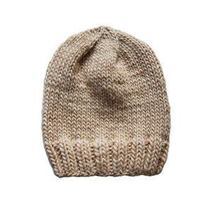 Outer Sunset Hat - Oatmeal, Knitted by Hand