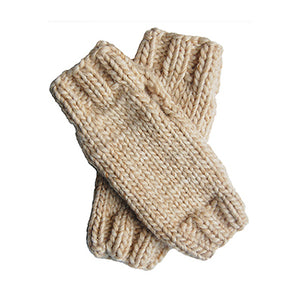 Outer Sunset Fingerless Mitts - Oatmeal / Hand Warmers