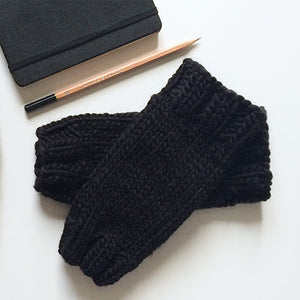Outer Sunset Fingerless Mitts - Onyx (Black)