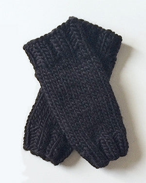 Outer Sunset Fingerless Mitts - Onyx