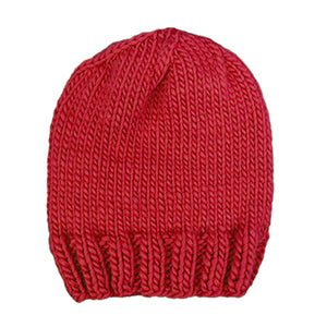 Outer Sunset Hat - Tomato, knitted by hand