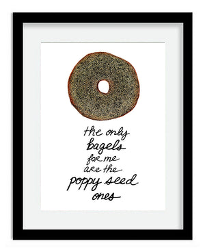 Poppy Seed Bagel 8x10 Art Print by Tanya Madoff