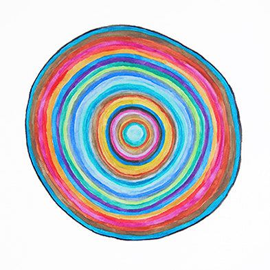 Circles and Triangles 8 x 10 Art Print by Tanya Madoff